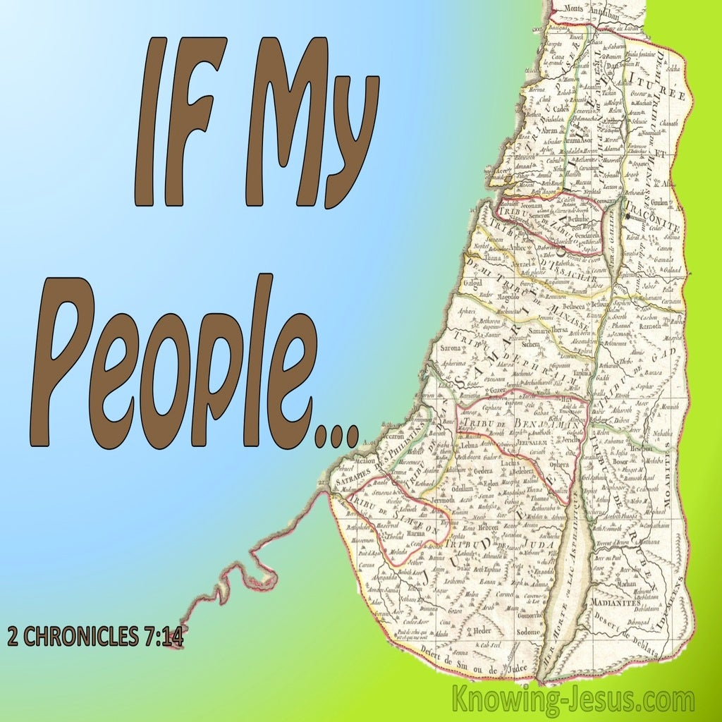 1 Chronicles 7:14 If My People Who Are Called By My Name (green)