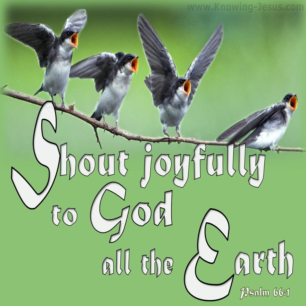 Psalm 66:1 Sing Joyfully To God (white)