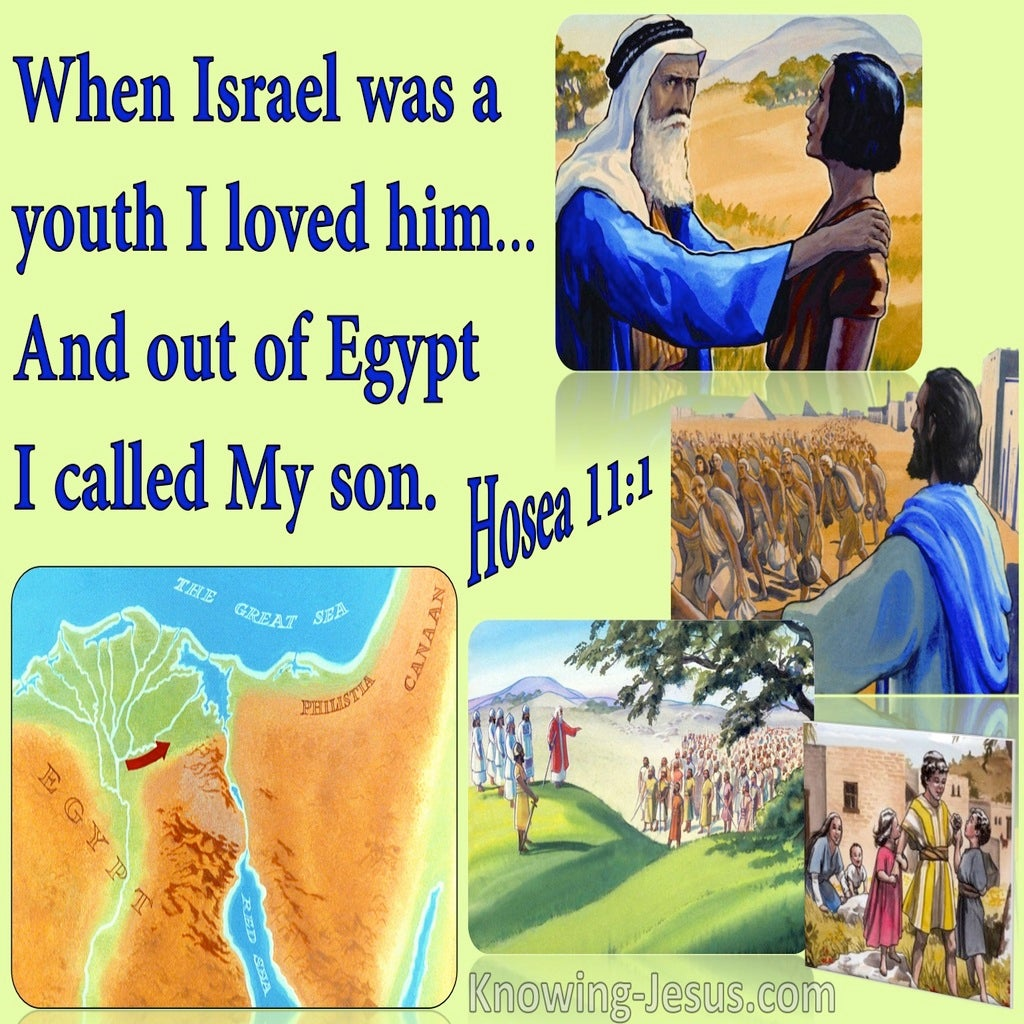 Hosea 11:1 Out Of Egypt I Called My So (green)