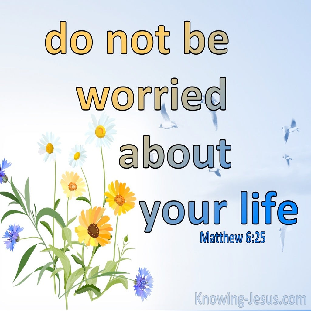 Matthew 6:25 Do Not Be Worried About Your Life (yellow)