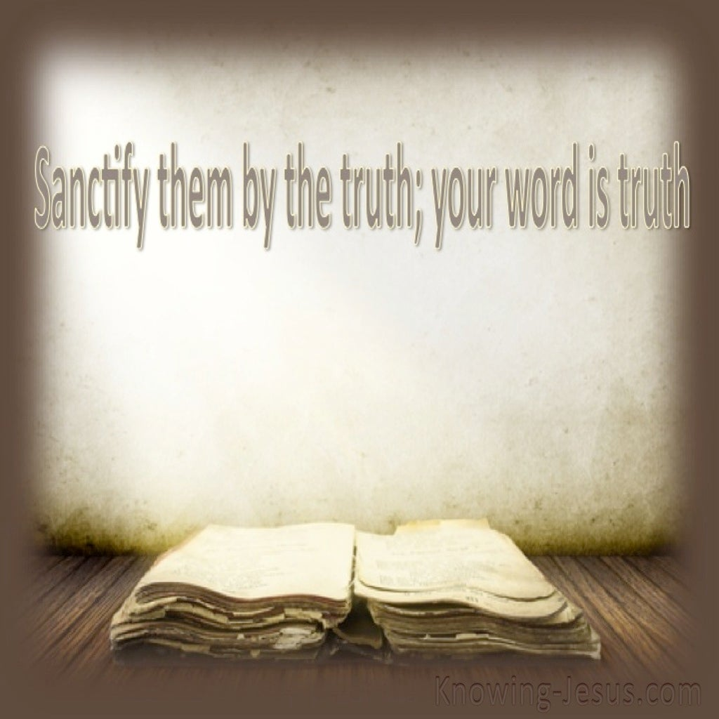 John 17:17 Sanctify Them By The Truth (beige)