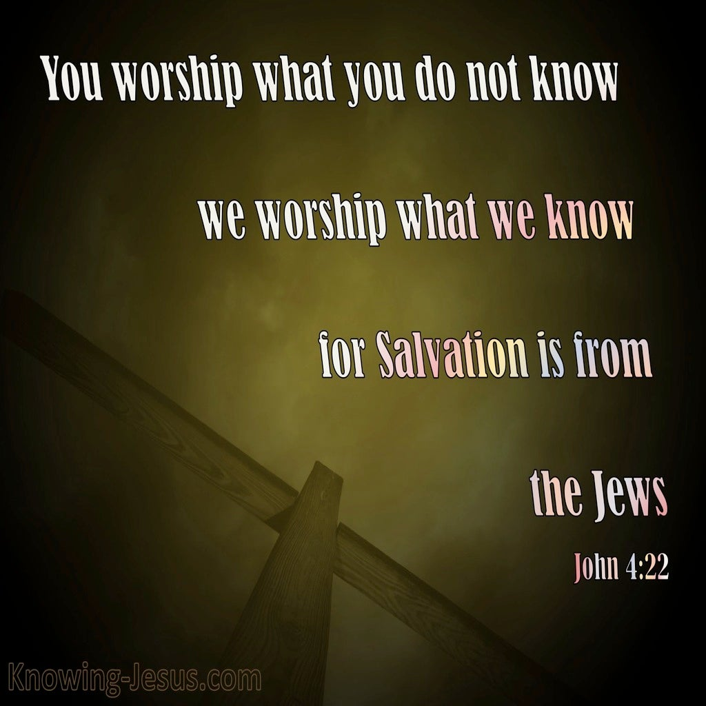 John 4:22 Salvation Is From The Jews (brown)