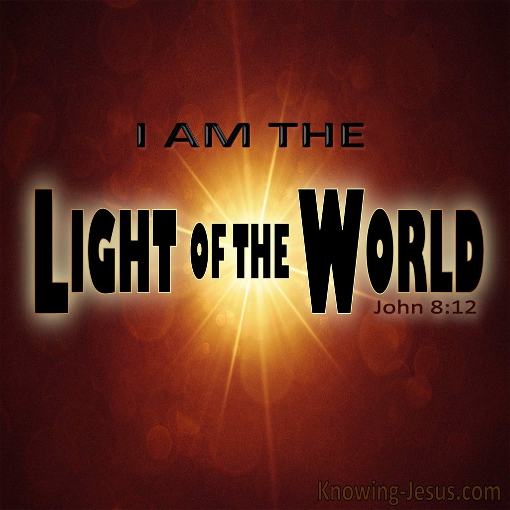 John 8:12 Jesus Is The Light Of The World (brown)