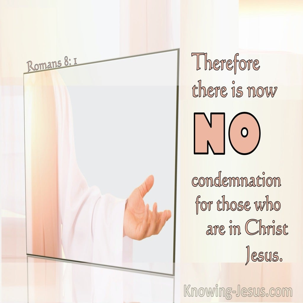 Romans 8:1 There Is No Condemnation In Christ Jesus (orange)