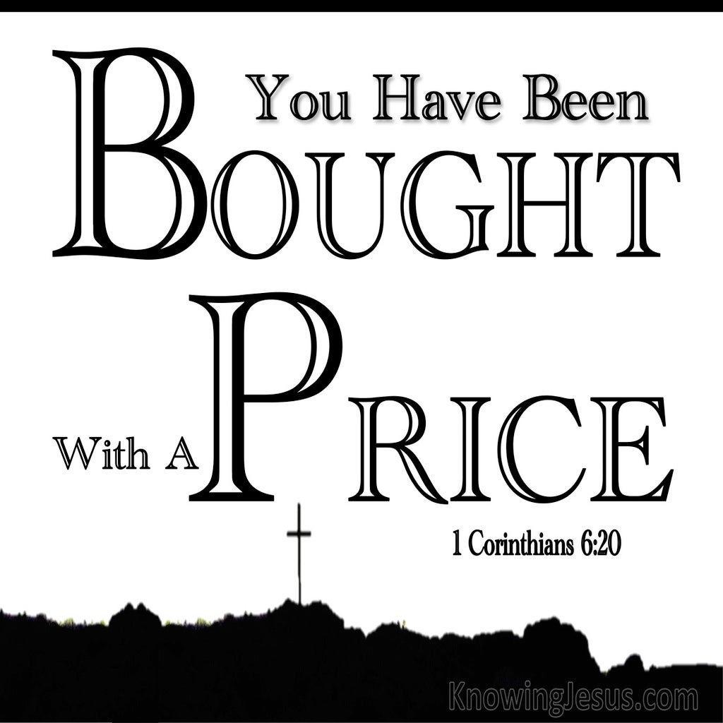 1 Corinthians 6:20 Bought With A Price (black)