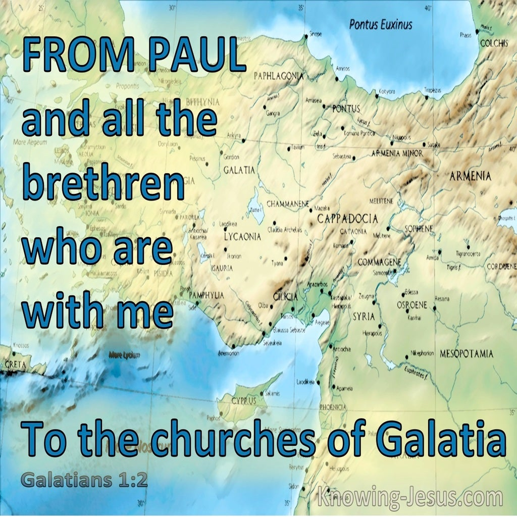 Galatians 1:2 From Paul And All The Brethren Who Are With Me (aqua)
