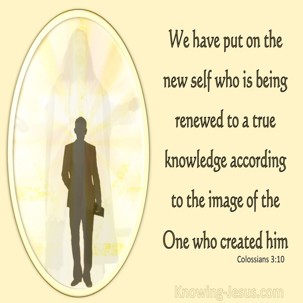 Colossians 3:10 Put On The New Self (lemon)