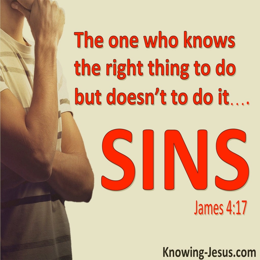 James 4:17 Know The Right Thing And Do It (beige)