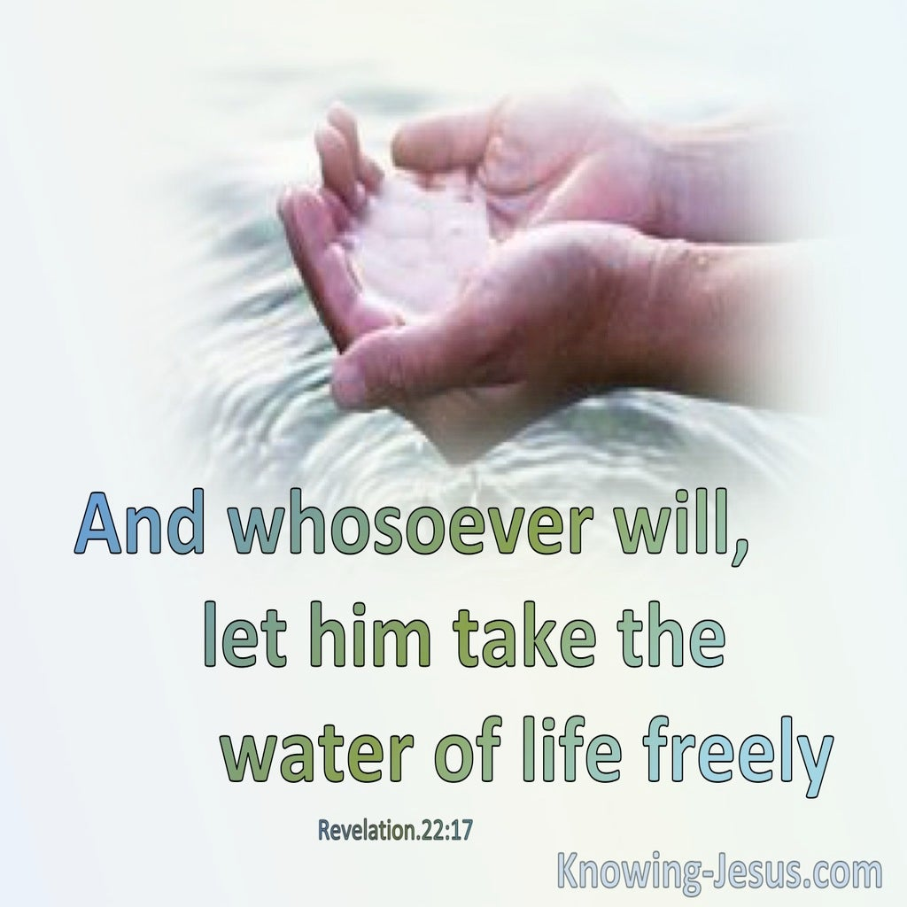 Water Of Life (devotional) (green) – Revelation 22:17