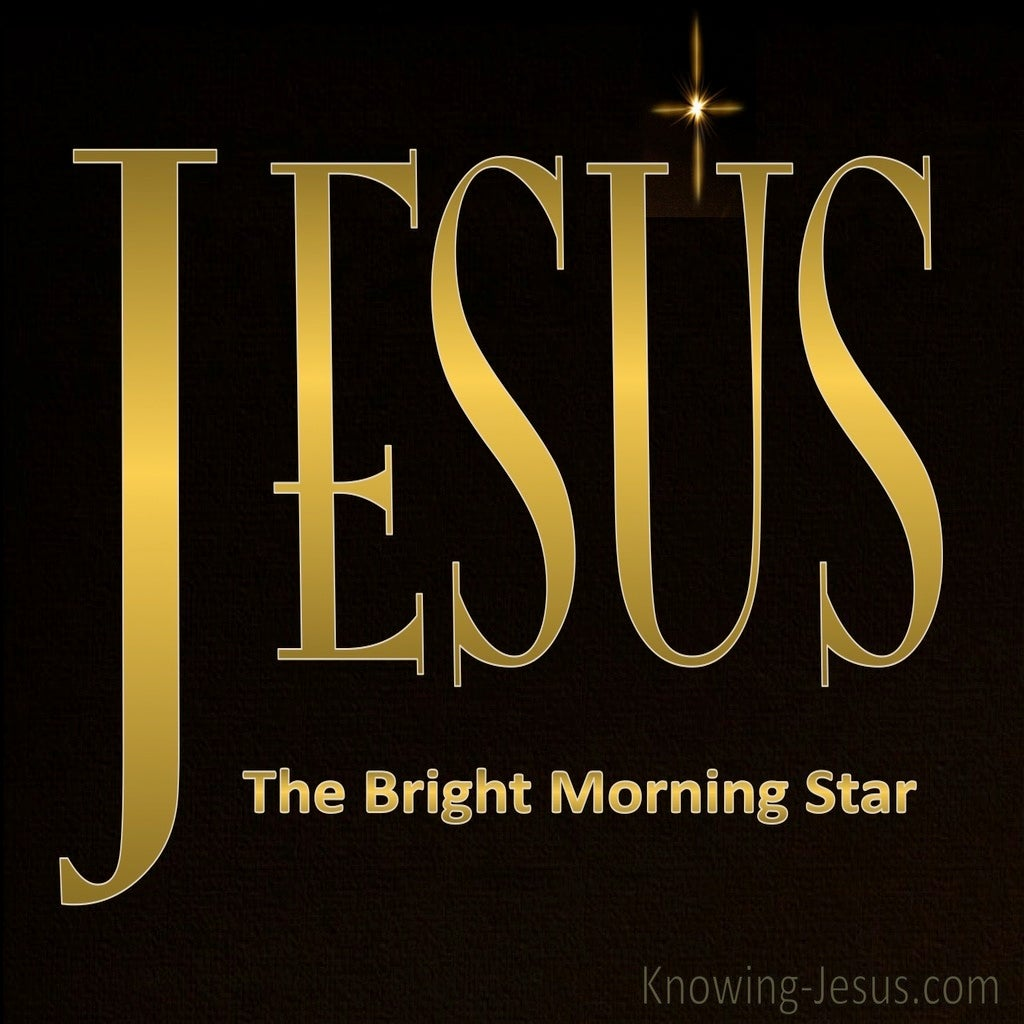 Jesus The Bright Morning Star (devotional) (gold) - Revelation 22:16