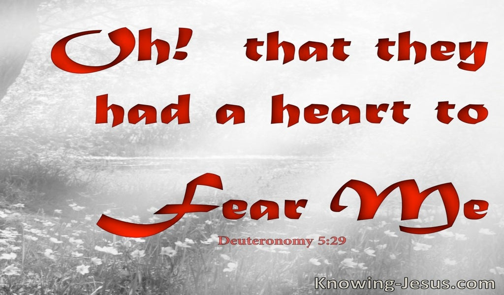 Deuteronomy 5:29 That They Had A Heart To Keep My Commandments (red)