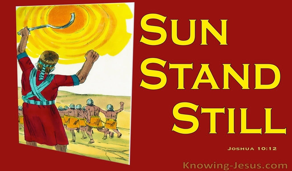 Joshua 10:12 Joshua Said Sun Stand Still (red)