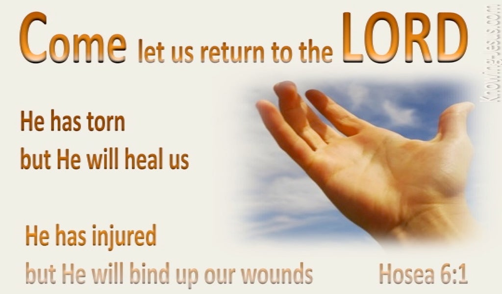 Hosea 6:1 Let Us Return To The Lord (beige)