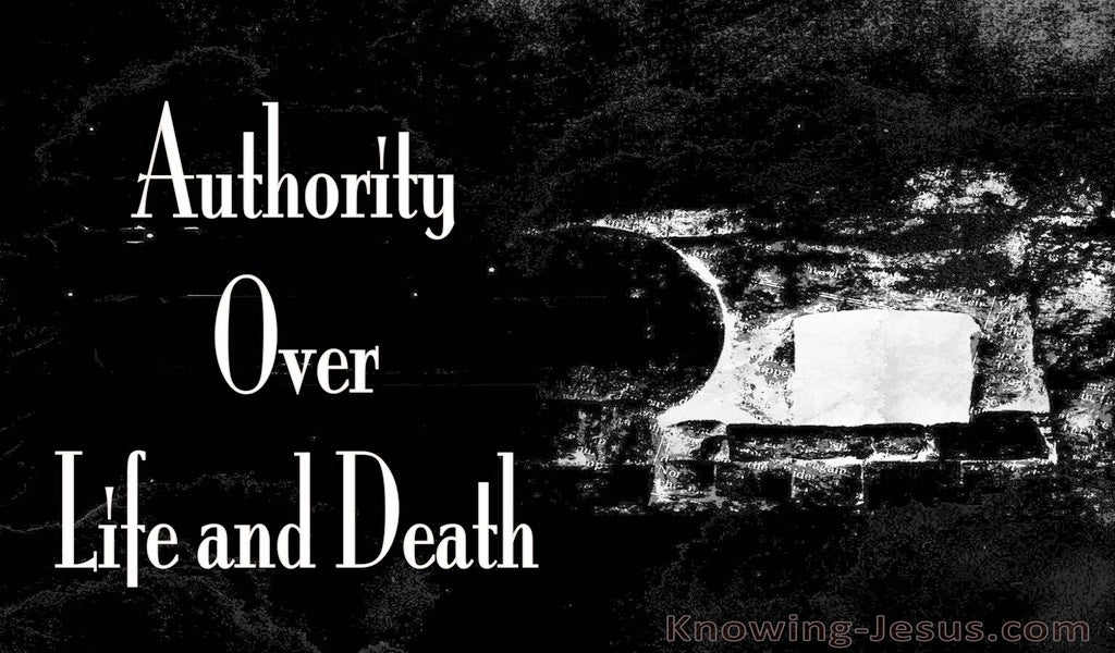 John 10:18 Authority Over Death And Life (black)