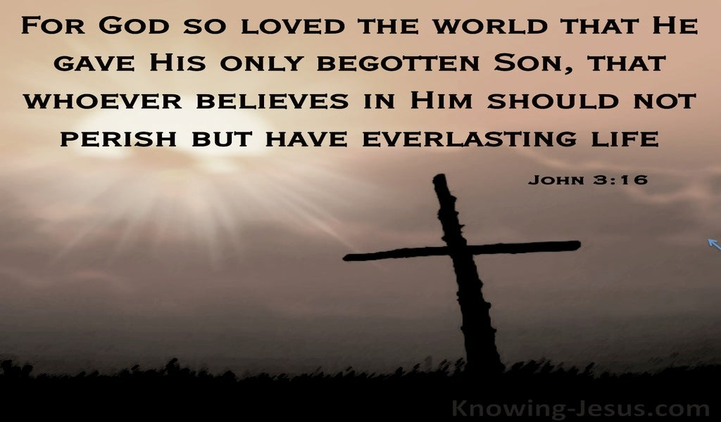 John 3:16 For God So Loved The World That He Gave His Only Begotten Son (black)