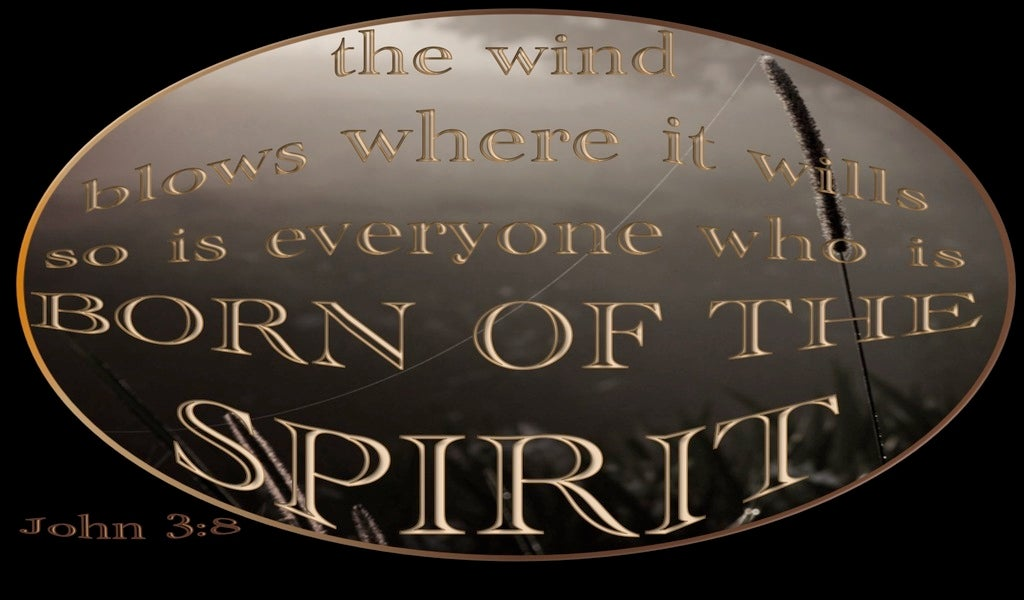 John 3:8 The Wind Blows Where It Wills (gray)