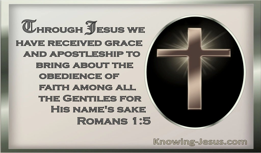 Romans 1:5 Through Whom We Have Received Grace And Apostleship (sage)