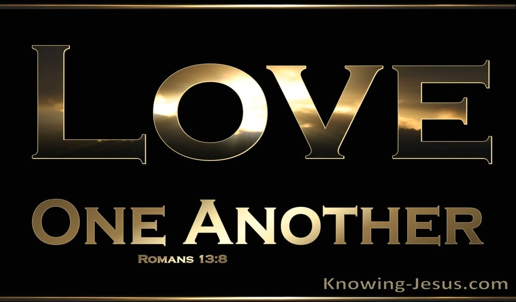 Romans 13:8 Love One Another (brown)
