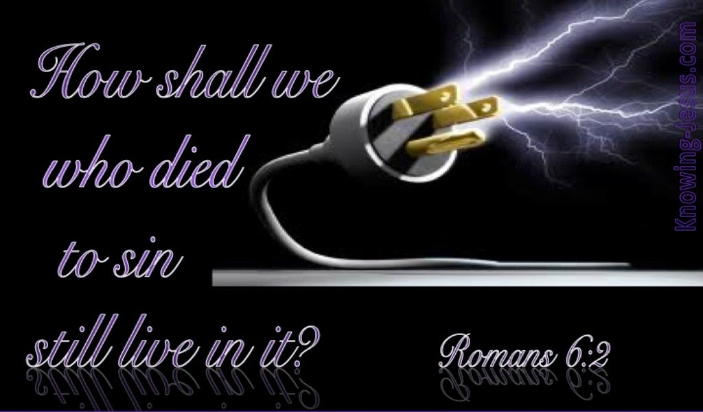 Romans 6:2 We Died To Sin (black)