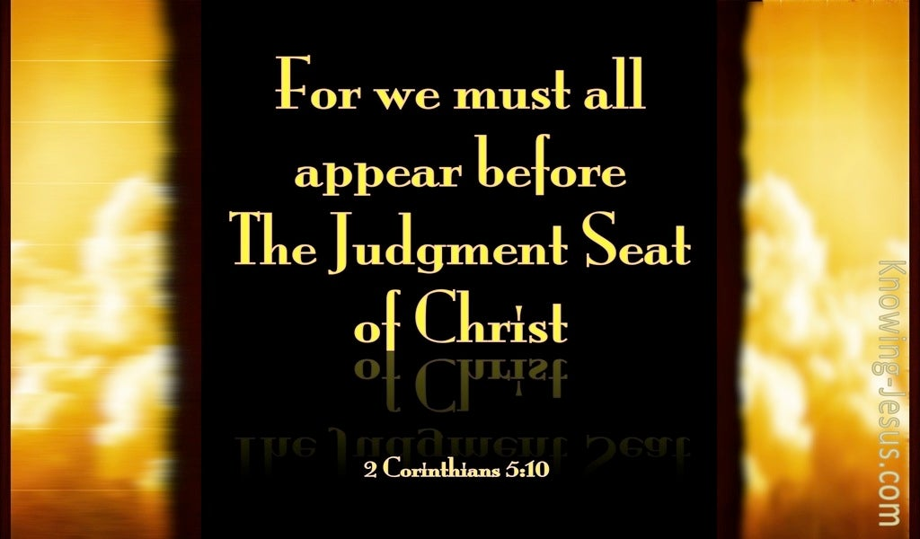 2 Corinthians 5:10 Judgement Seat Of Christ (black)