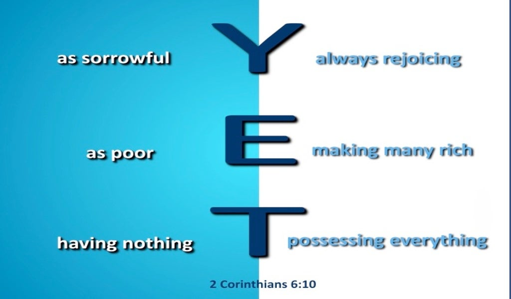 2 Corinthians 6:10 Sorrowful Yet Always Rejoicing (blue)