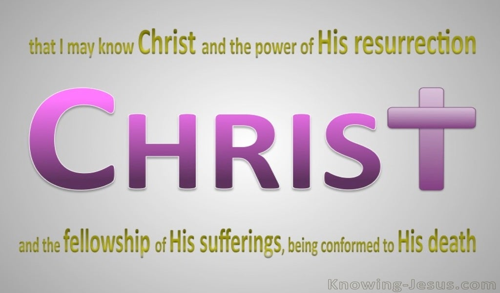 Philippians 3:10 That I May Know Christ (purple)