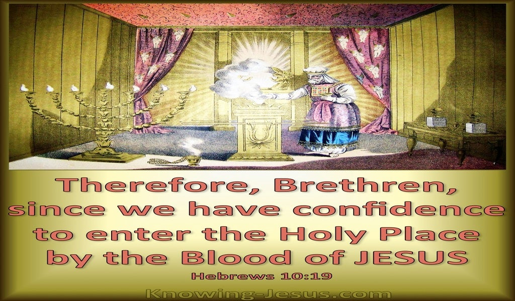 Hebrews 10:19 Confidence To Enter The Holy Place (green)