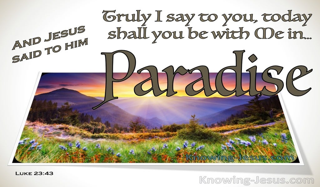Luke 23:43 Promise of Paradise (devotional)01:04 (white)