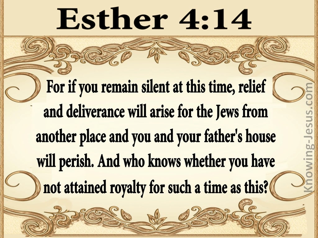 Esther 4:14 For Such A Time As This (beige)