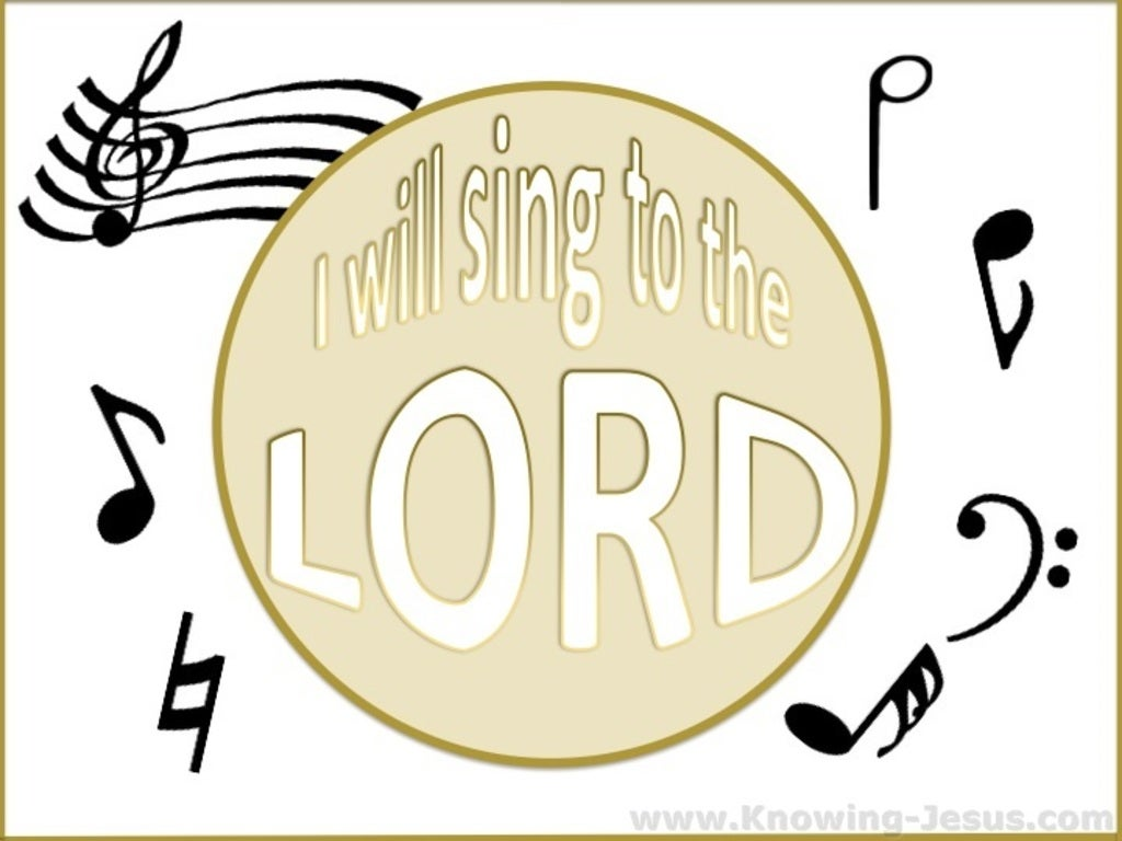 Psalm 96:1 Sing To The Lord (beige)