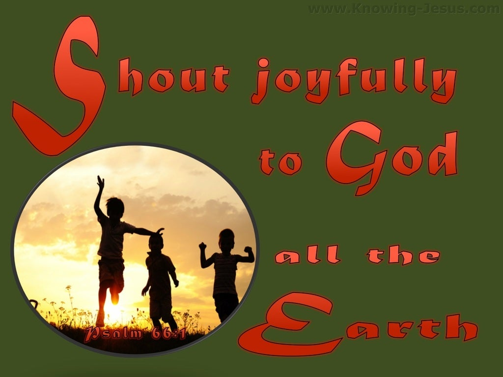 Psalm 66:1 Sing Joyfully To God (green)
