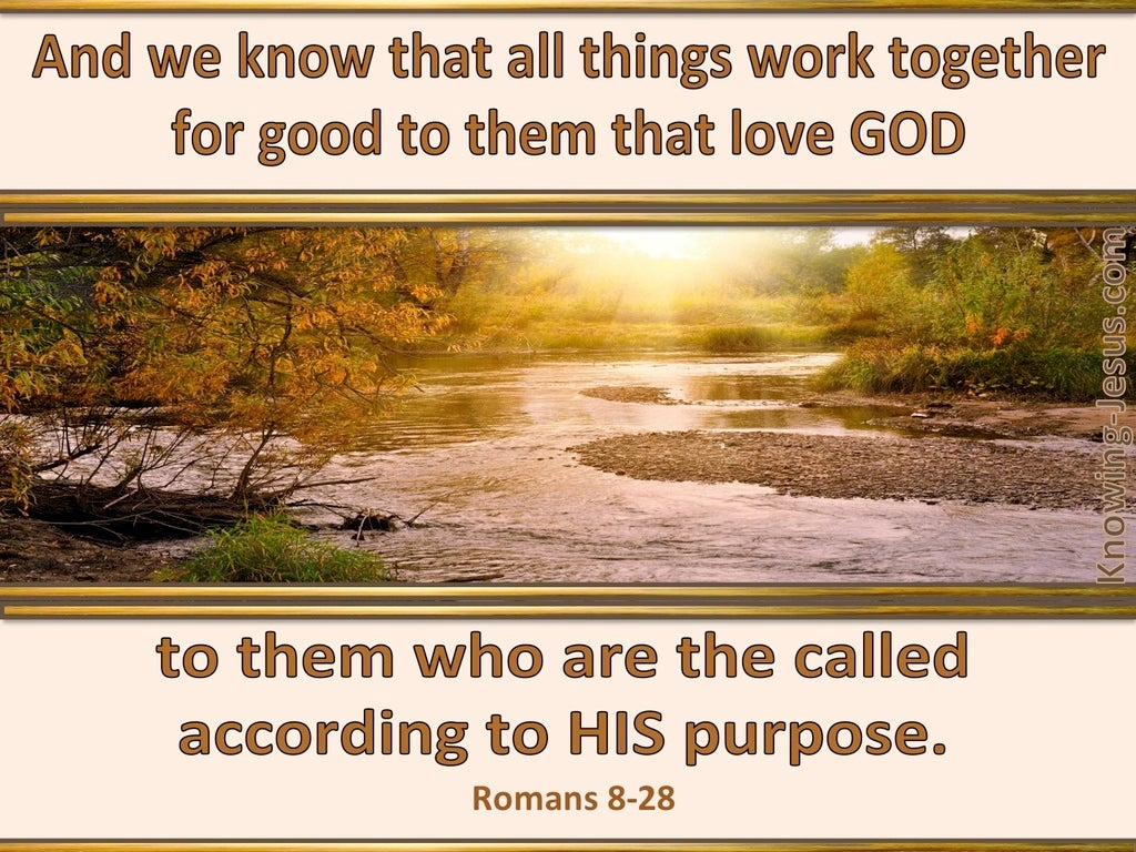 Romans 8:28 All Things Work Together For Good (beige)