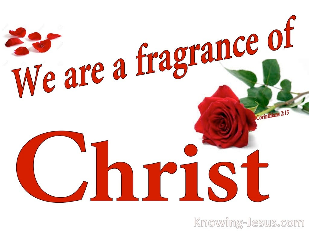 2 Corinthians 2:15 The Fragrance Of Christ (white)