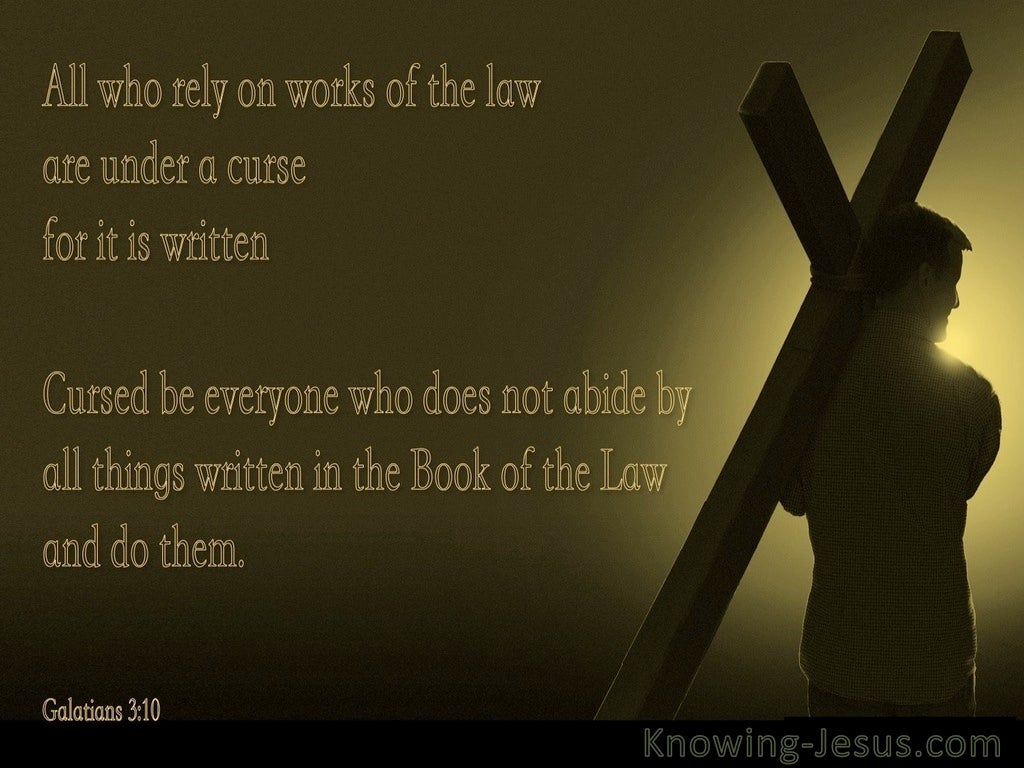 Galatians 3:10 Redeemed From The Curse Of The Law (black)