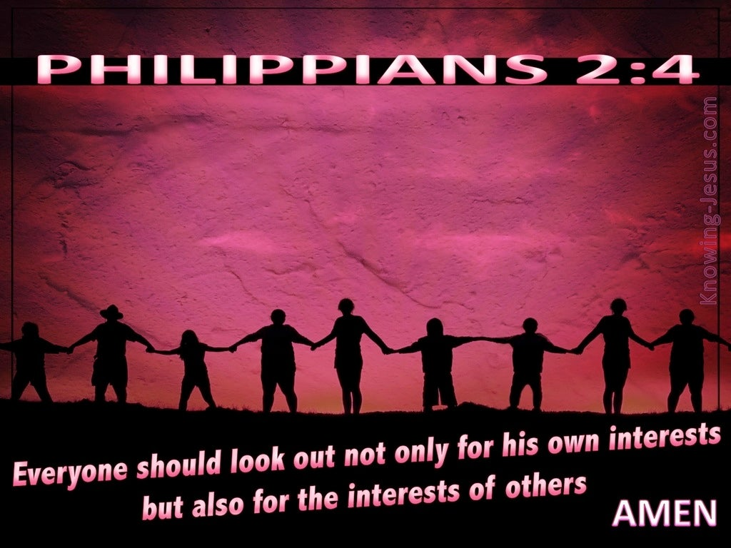 Philippians 2:4 Look Out For The Interests Of Others (pink)