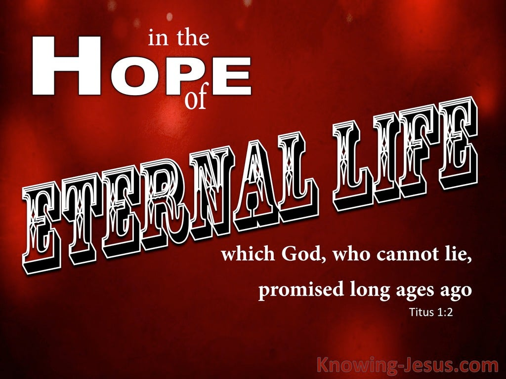 Titus 1:2 The Hope Of Eternal Life (red)