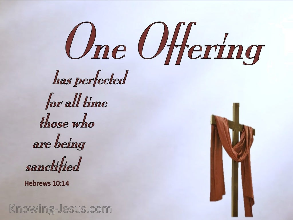 Hebrews 10:14 By One Perfect Offering (red)