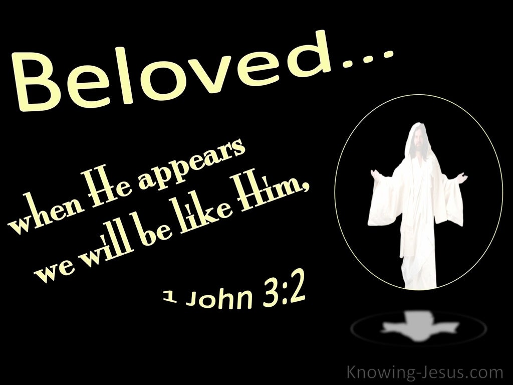 1 John 3:2 When He Appears We Shall Be Like Him (black)