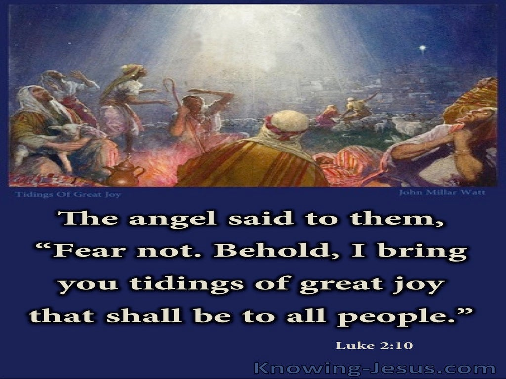 Message of Great Joy (devotional) (blue) - Luke 2:10