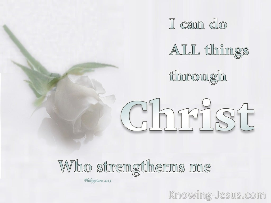 Sufficient Strength Supplied (devotional) (white) - Philippians 4:13
