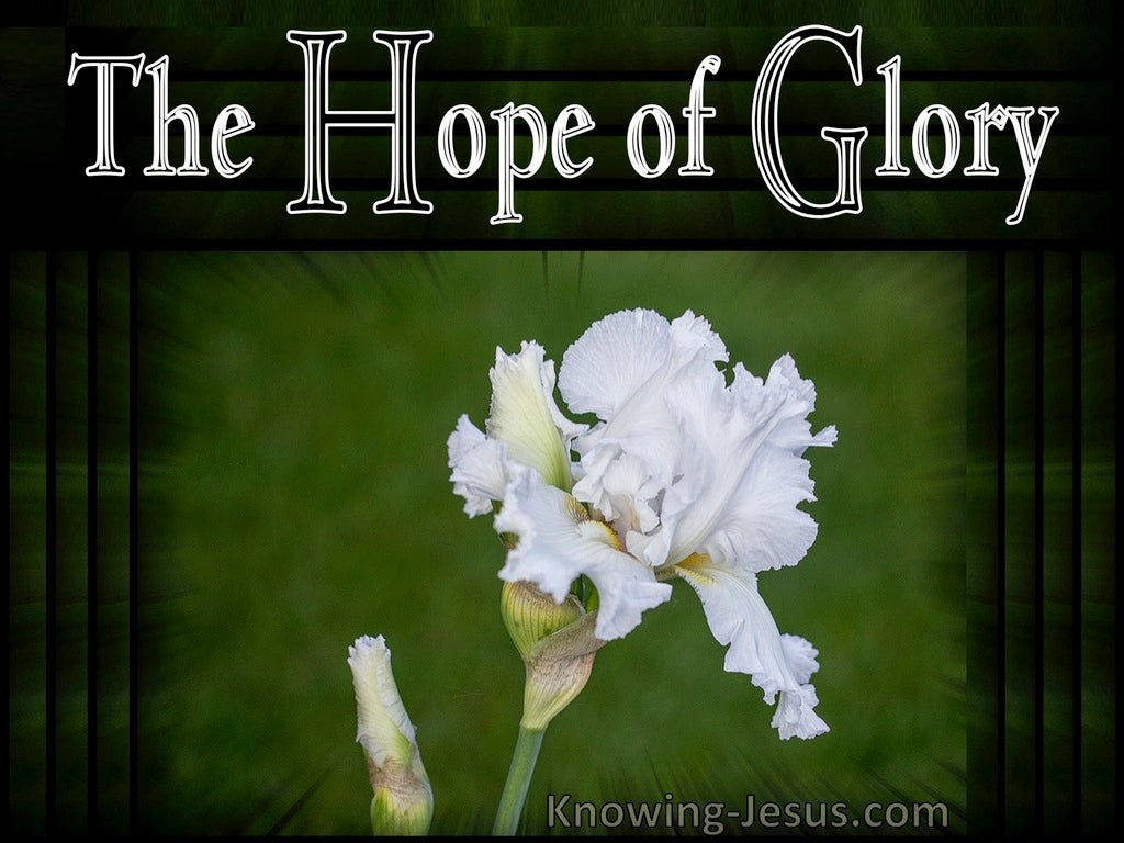 Colossians 1:27 The Hope of Glory (devotional)11:15 (green)