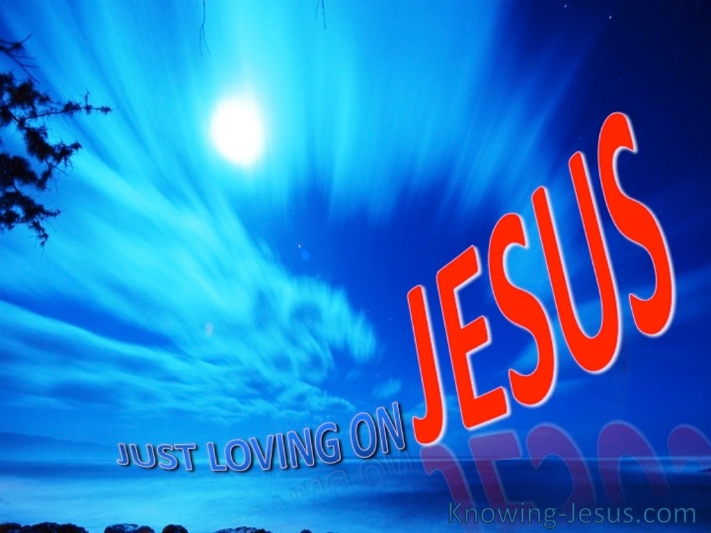 Just Loving On Jesus (devotional) (blue)