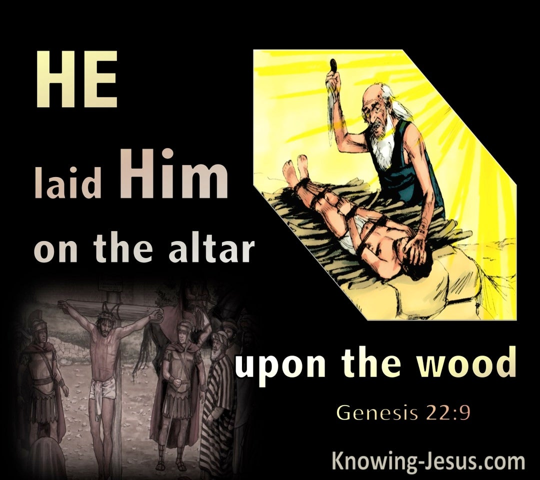 Genesis 22:9 He Laid Him On The Alter Upon The Wood 22:9 (yellow)