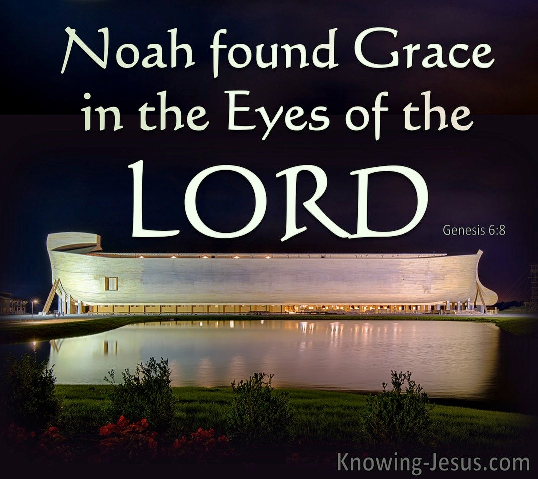 Genesis 6:8 Noah Found Grace In The Eyes Of The Lord (green)