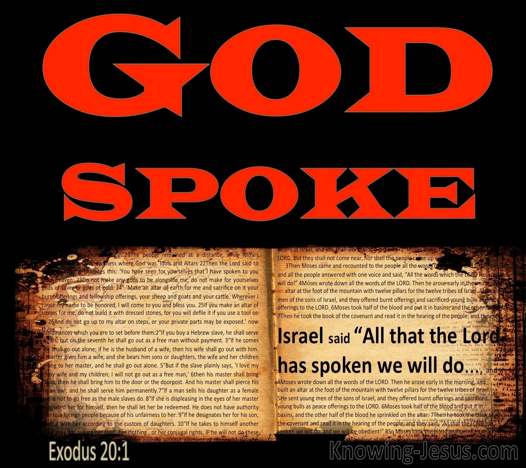 Exodus 20:1 And All That God Spoke We Will Do (red)