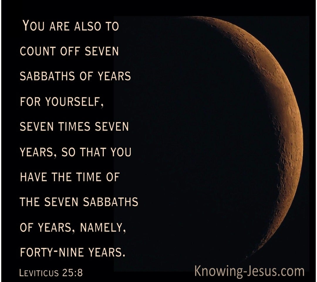 Leviticus 25:8 You Are Also To Count Off Seven Sabbaths Of Years For Yourself