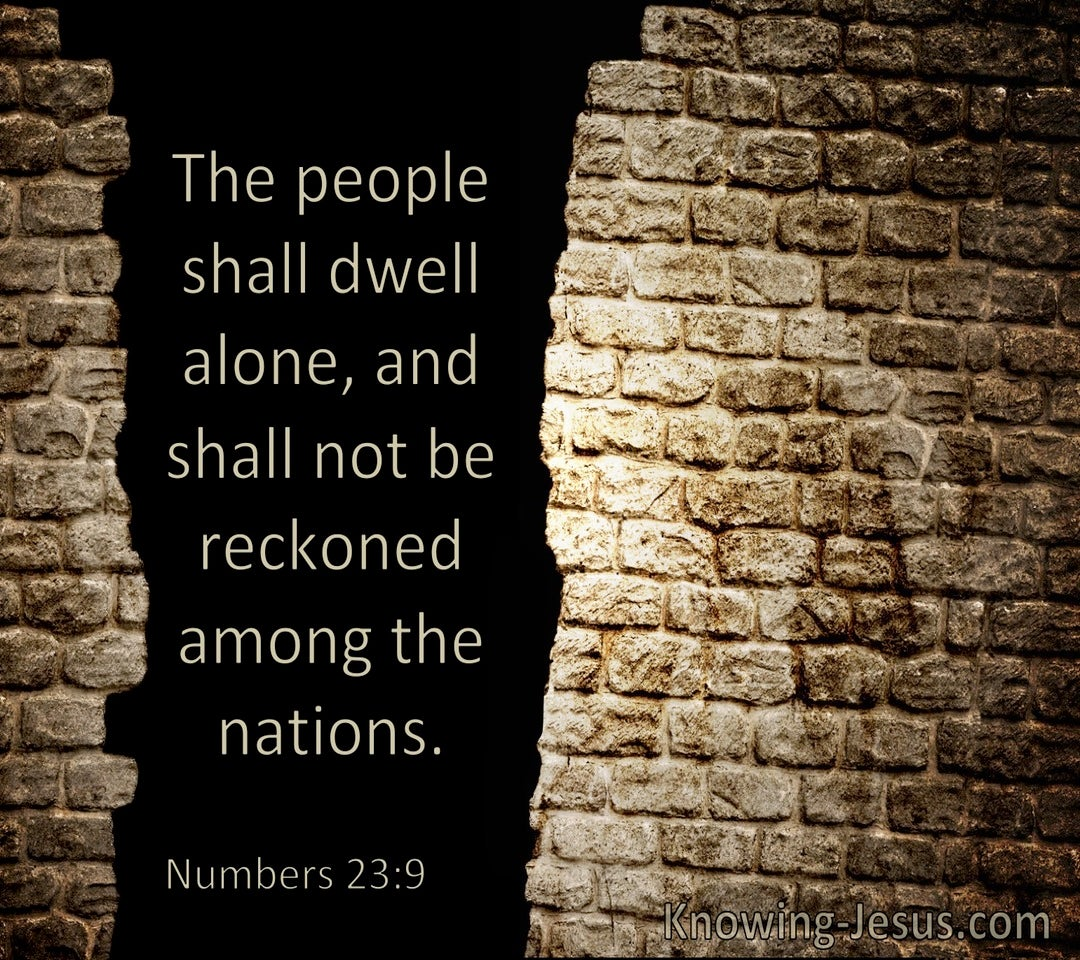 Numbers 23:9 the People Shall Dwell Alone (windows)06:18
