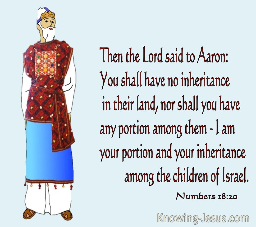 Numbers18-20 Your Shall Have No Inheritance In The Land (blue)