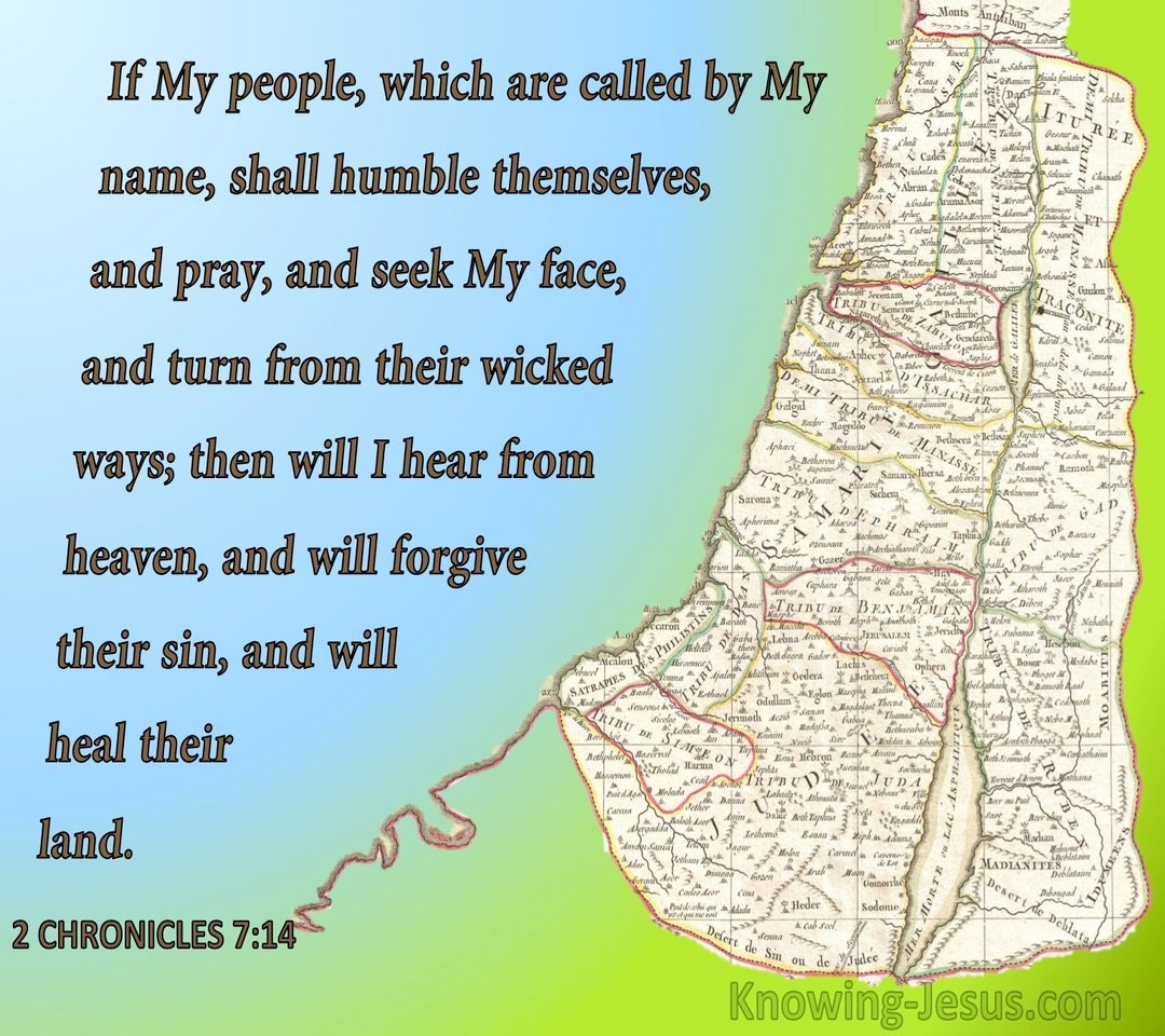 1 Chronicles 7:14 If My People Who Are Called By My Name (brown)