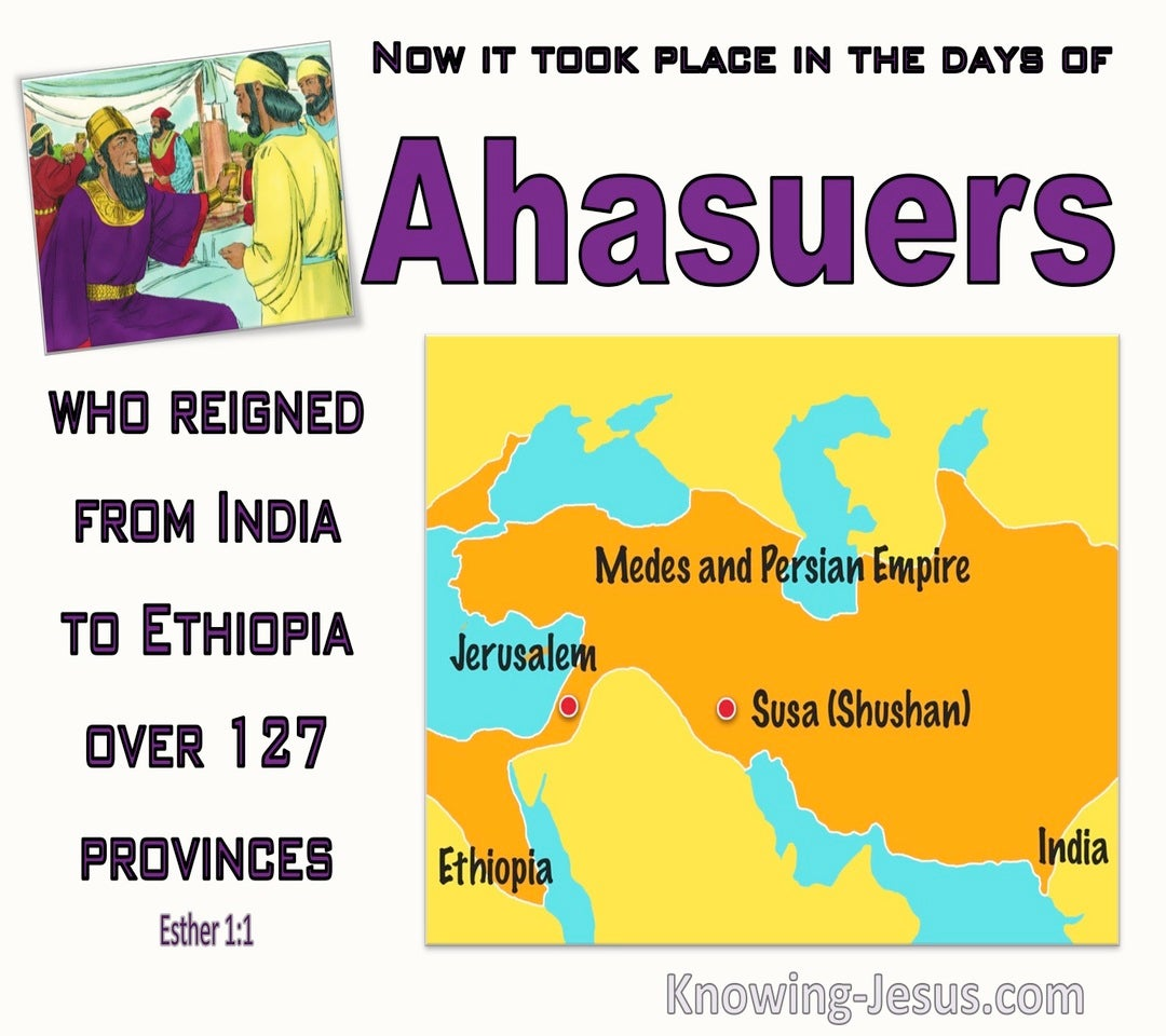 Esther 1:1 It Took Place In The Days Of Ahasuerus (purple)